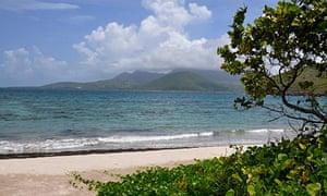 Turtle Bay on the Atlantic Ocean Coast on the island of St Kitts