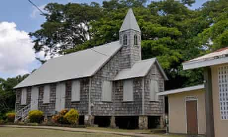 Moravian Church in the village of Black Rock.