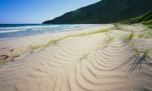The beach at Sand Bank Bay Southeast coast of Island of St Kitts