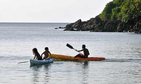 Sea kayaking, Tobago