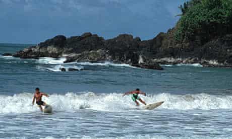 Surfing in Tobago