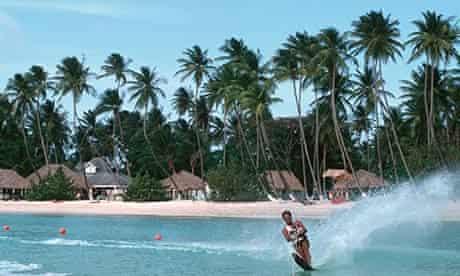 Wake boarder in Tobago.