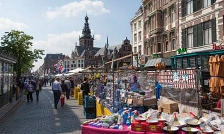 Market day in Nijmegen, the Netherlands
