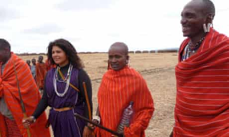 Mindy Budgor with Masai