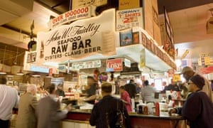 Faidley Seafood Raw Bar Lexington Market Baltimore Maryland