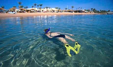 Snorkeller in Dahab, Egypt