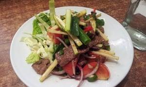 Beef salad at Lao City Thai, Sydney