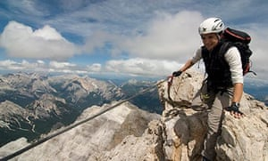 Via Ferrata, Dolomites, Italy