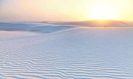 Sunset at White Sands national monument, New Mexico