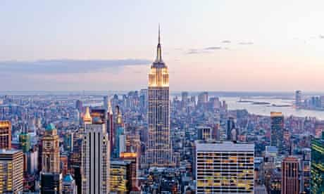 View of Empire State Building, New York City