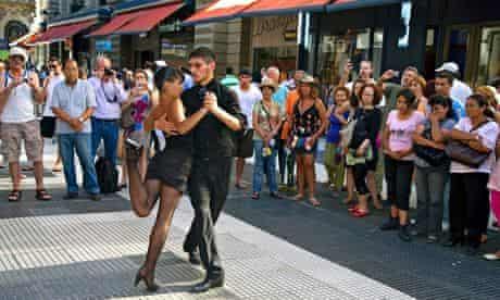 Argentinian tango dancers, Florida Street, Buenos Aires, Argentina