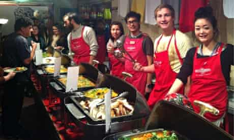 Serving up meals at Lentil As Anything's Abbotsford branch