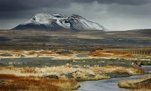 Snow-capped mountain in Iceland