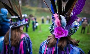 Morris dancers at the Chepstow Wassail and Mari Lwyd custom, Chepstow, Wales