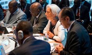 Christine Lagarde and Jim Kim in Washington
