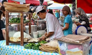 Noodle stall on Muscat Street, Kampong Glam, Singapore