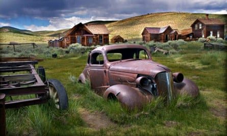 Ghost town relics in Bodie, California