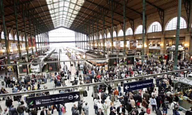 The railway station Gare du Nord, Paris, France