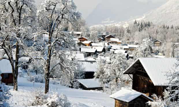 Morillon in the Haute-Savoie, France.