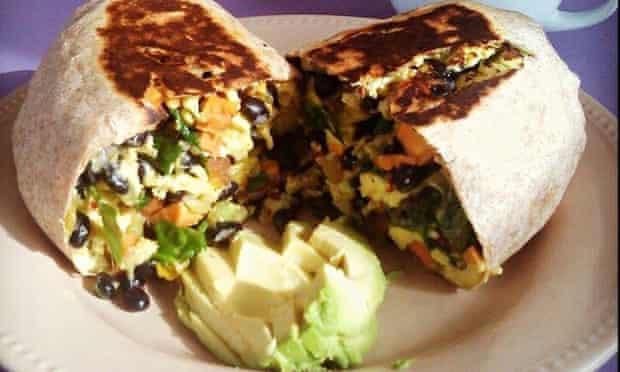 Breakfast burrito at Cuppa Joe, Colorado