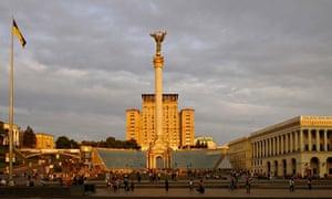 """Ukraine, Kiev, Independence square"""