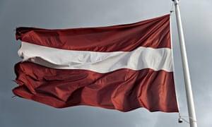 """Latvia  flag flying"""