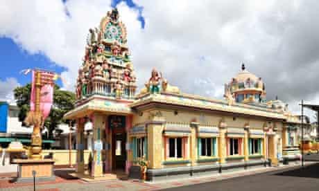 Hindu temple in Port Louis Mauritius
