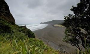 Piha beach on the west coast of the North Island, New Zealand