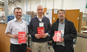 John Potter at the printers with the new March 2014 edition of the European Rail Timetable