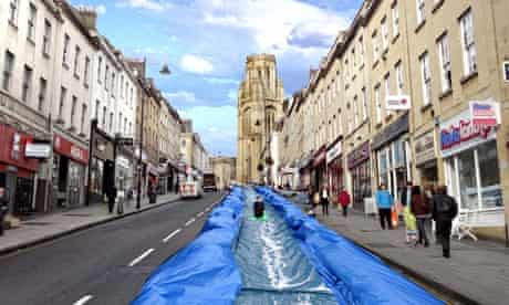 Mock up of the Park and Slide project for Bristol