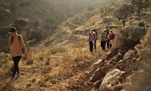 Hiking near Sebastia, Palestine
