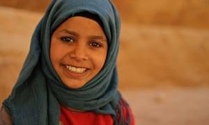 Bedouin girl, Petra