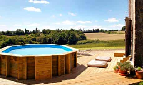 The solar-heated pool at l'Ecurie