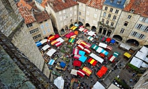 Market day in Villefranche-de-Rouergue, Gascony