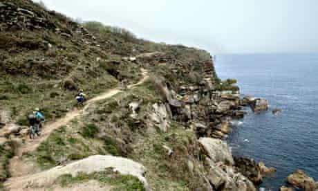 The rugged coastlline east of San Sebastián, Spain
