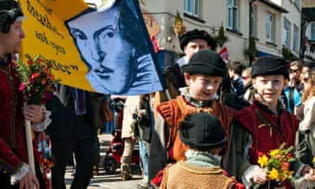 Shakespeare birthday celebrations in Stratford upon Avon