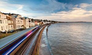 Great Western Train Passing Through Dawlish