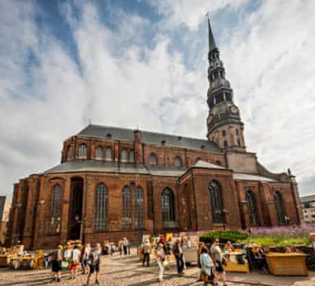View of Saint Peter's church, Riga