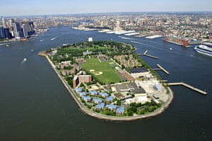 Aerial view of Governor's Island, New York Harbor