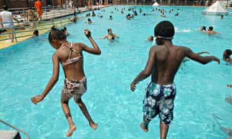 Sol Goldman pool in Red Hook, New York