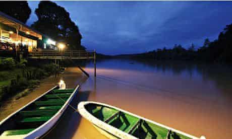 Jungle Lodge at Sukau,Malaysian Borneo. Image shot 02/2008. Exact date unknown.