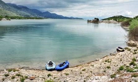 Kayaing in Lake Skadar, Montenegro