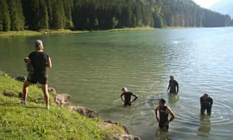 Triathlon training in Morzine