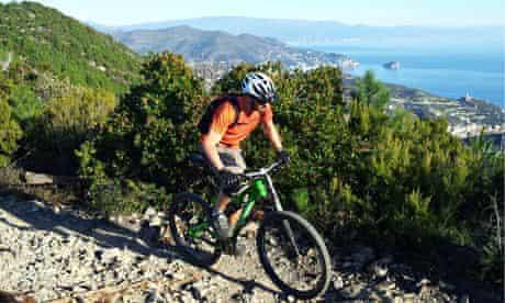 Mountain biking in Finale, Italy