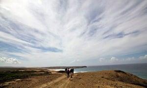 Walking the coast near Bordeira