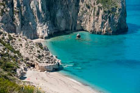 Milos beach, near Idilli Villas, Lefkada