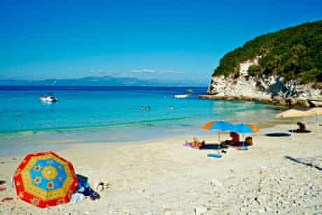 Vrika beach, Antipaxos.