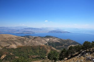 View towards Albania from