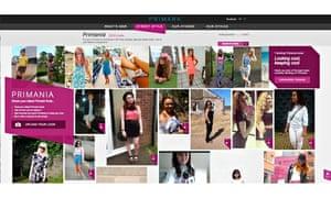 Primark's Primania photo-sharing website