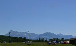 Chewing Blackbones campsite, Montana
